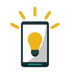 Smartphone bulb idea imagination vector