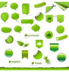 Big Green Symbols Set vector image