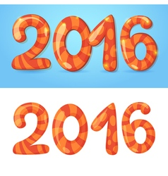 2016 New Year numbers congratulations card vector image vector image
