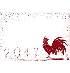 2017 rooster background vector