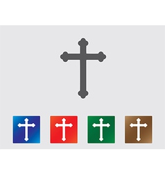 Cross icons vector