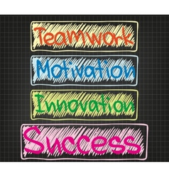 Teamwork motivation innovation vector
