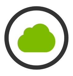 Cloud flat eco green and gray colors rounded vector