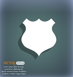 Shield icon sign on the blue-green abstract vector