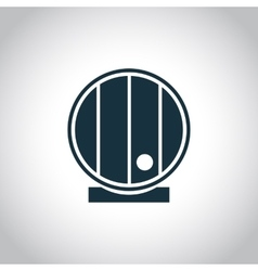 Barrel single flat icon vector