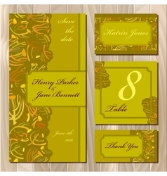 Autumn tansy twigs wedding card set printable vector
