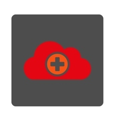 Medicine cloud flat button vector