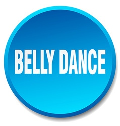 Belly dance blue round flat isolated push button vector