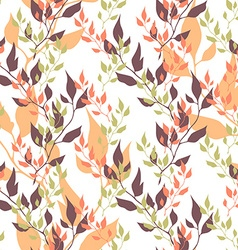 Seamless natural ecology colorful pattern with vector