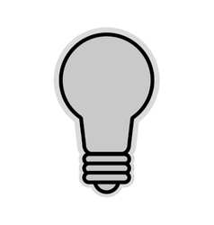Lightbulb icon light vector