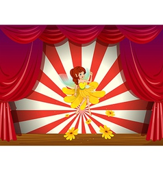 A flower pixie at the stage vector