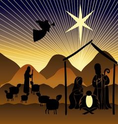 Baby Jesus in a manger 9 vector image vector image