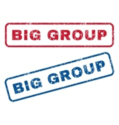 Big group rubber stamps vector