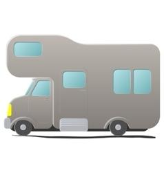 Cartoon camping van caravan vector