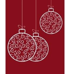 Christmas balls pattern retro vector