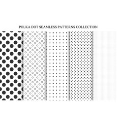 collection of seamless dots patterns vector image vector image