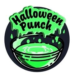 Color vintage halloween emblem vector image