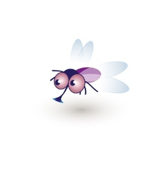 Comic Funny Housefly of a cartoon vector image vector image