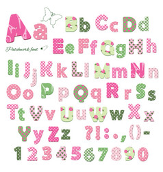 cute textile font patterns under clipping mask vector image