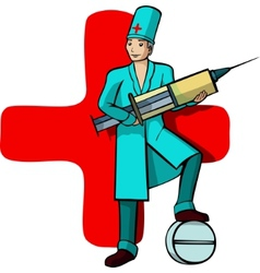 doctors profession vector image vector image