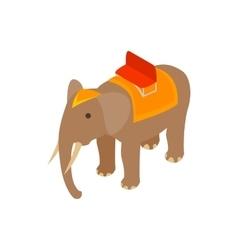 Elephant icon isometric 3d style vector