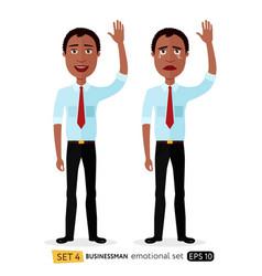 emotion business man waving hand goodbye vector image