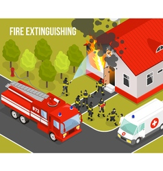Fire Department Composition vector image vector image