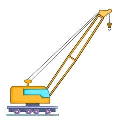 High crane icon flat style vector