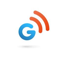 Letter g wireless logo icon design template vector