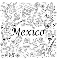 Mexico coloring book vector image vector image
