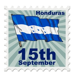 national day of Honduras vector image