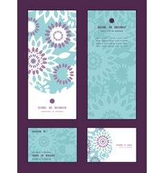 purple and blue floral abstract vertical vector image vector image