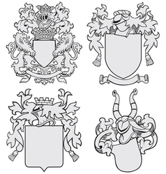 Set of aristocratic emblems no7 vector