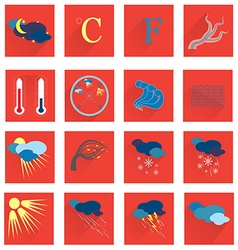 Set with the Weather Icons vector image vector image