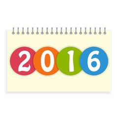 Spiral calendar 2016 cover vector