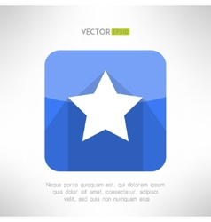 Star icon made in simple and clean modern flat vector image vector image