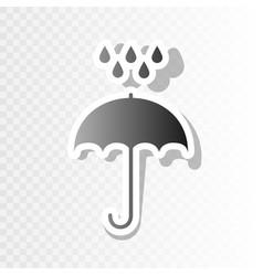 umbrella with water drops rain protection symbol vector image vector image