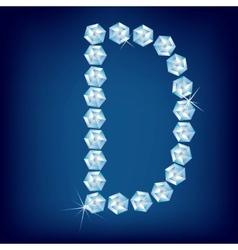 vector diamond alphabet letter c vector image vector image