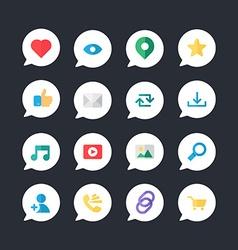 Web virtual socail network icons vector