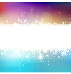 winter bokeh background with snowflakes vector image vector image