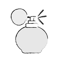 retro fragrance bottle vector image