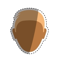 Faceless man head vector image