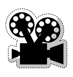 Video camera retro icon vector
