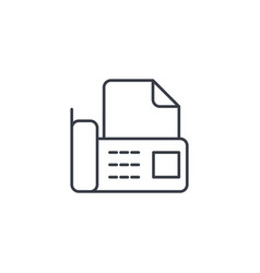 office telephone fax digital phone document thin vector image
