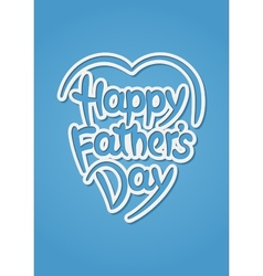 Happy fathers day hand-drawn lettering vector