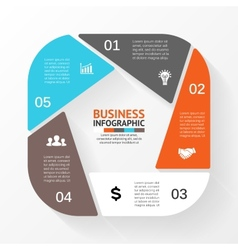 circle pentagon infographic Template for diagram vector image