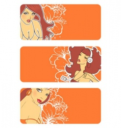 Banners women vector