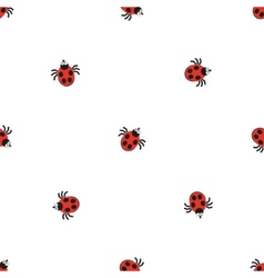 Ladybird bug flat style pattern nature insect vector