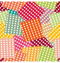 Bright seamless pattern patchwork style vector