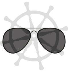 Sunglasses and helm vector